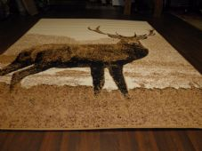 Modern Approx 8x5ft 160cmx230cm Woven Backed Quality rugs stag Nice Large Beiges